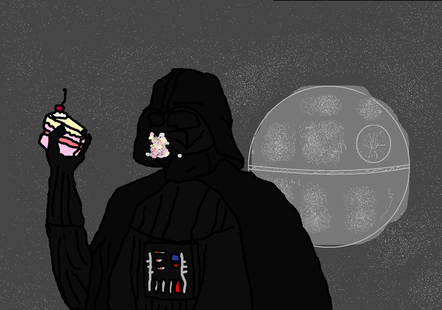 Vader_Fails_at_Eating_Cake_by_RiiandRoo