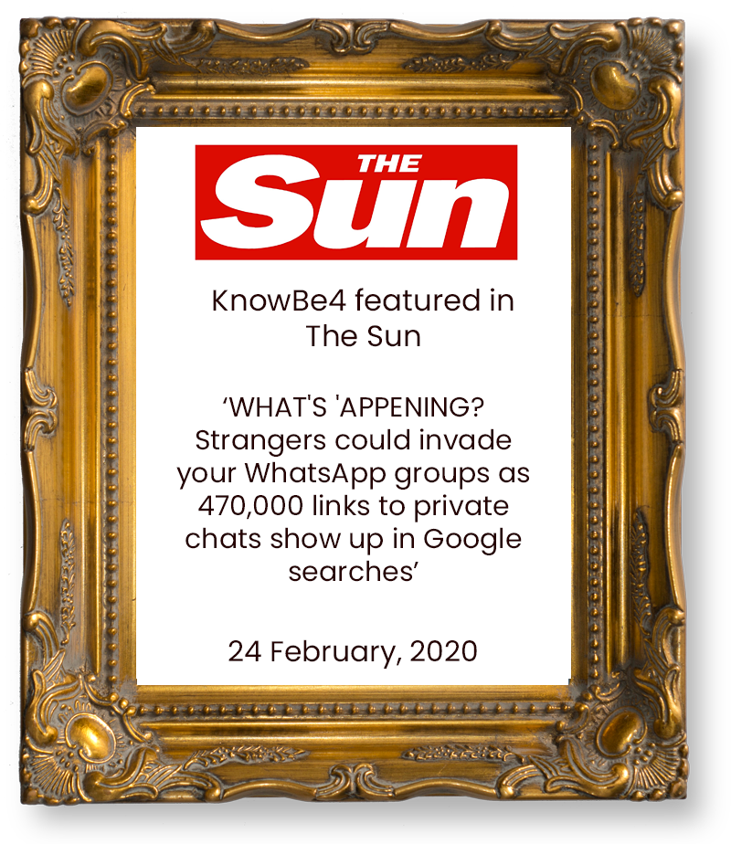 KnowBe4-feature-in-The-Sun-February-2020