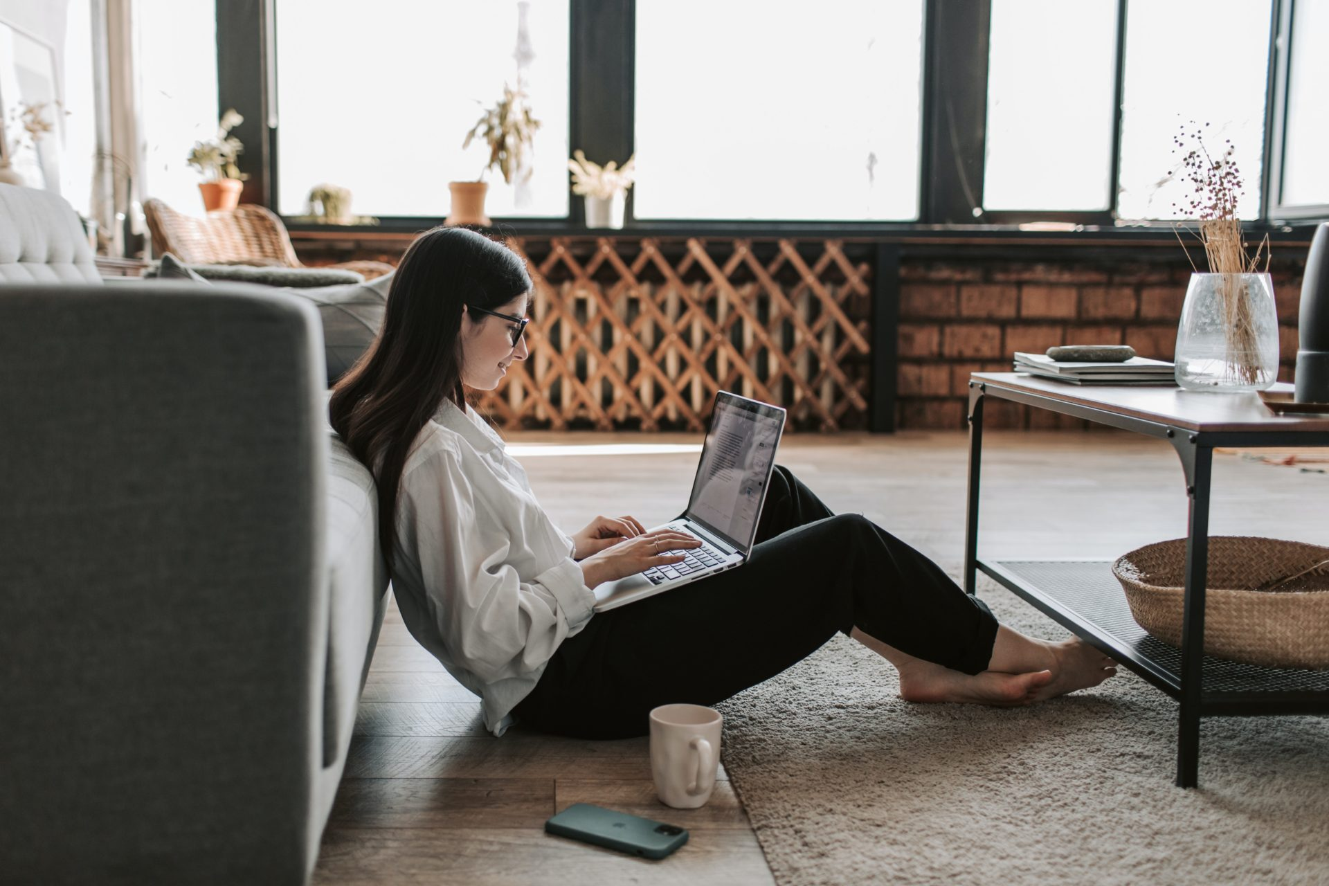 woman-working-at-home