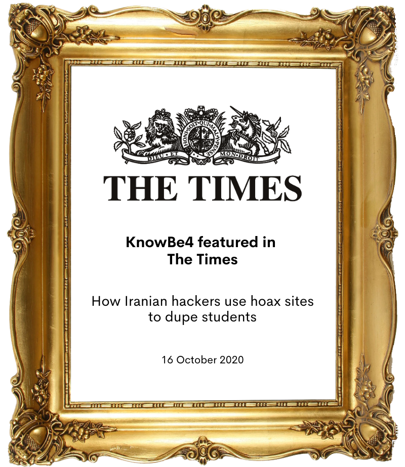 KnowBe4 in the times