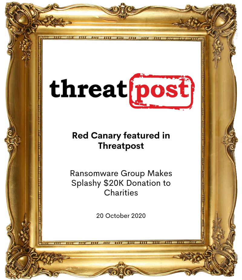 Red Canary featured in Threatpost