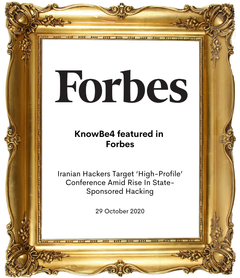 KnowBe4 in Forbes