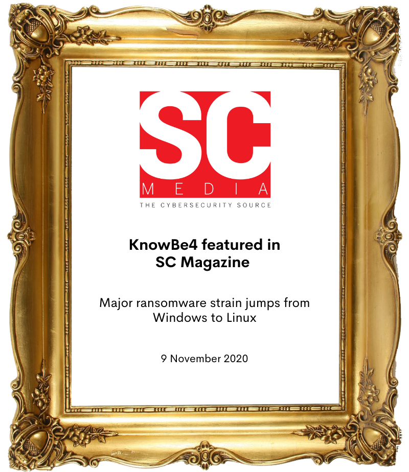 KnowBe4 in SC Magazine