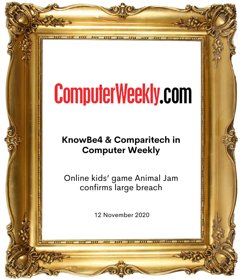 KnowBe4 and Comparitech in Computer Weekly