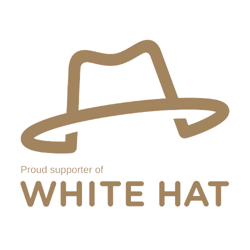 Proud supporter of White Hat - PNG
